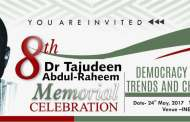 8TH Tajudeen Abdul-Raheem Memorial Next Week