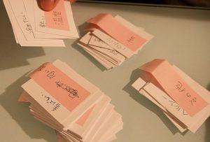 味覚表現のバリエーションをカードでリスト化