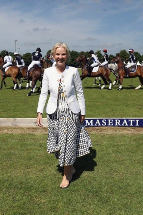 TETBURY, ENGLAND - JUNE 10: Maserati Royal Charity Polo Trophy 2018 – Lisa Maxwell during the Maserati Royal Charity Polo Trophy 2018 at Beaufort Polo Club on June 10, 2018 in Tetbury, England. (Photo by Chris Jackson/Getty Images for Maserati / La Martina) *** Local Caption *** Lisa Maxwell