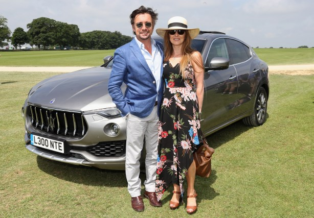 TETBURY, ENGLAND - JUNE 10: Maserati Royal Charity Polo Trophy 2018 – Richard Hammond and Mindy Hammond with the Maserati Levante SUV attend the Maserati Royal Charity Polo Trophy 2018 at Beaufort Polo Club on June 10, 2018 in Tetbury, England. (Photo by Chris Jackson/Getty Images for Maserati / La Martina) *** Local Caption *** Richard Hammond; Mindy Hammond