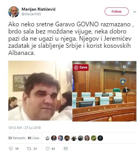 G*VNO GARAVO RAZMAZANO, BRDO SALA BEZ MOŽDANE VIJUGE! Marijan Rističević žestoko izvređao Sašu Mirkovića!