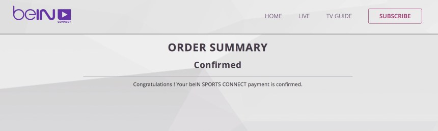 Entropay Visa Card account bypass beinsportsconnect payment process problem