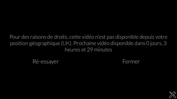 débloqué France 2 cette video n'est pas disponible depuis votre position geographique