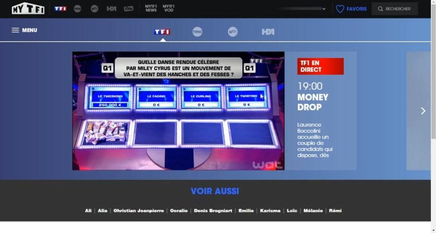 direct TF1 live stream hors France, contourner geo blocage,unblocked