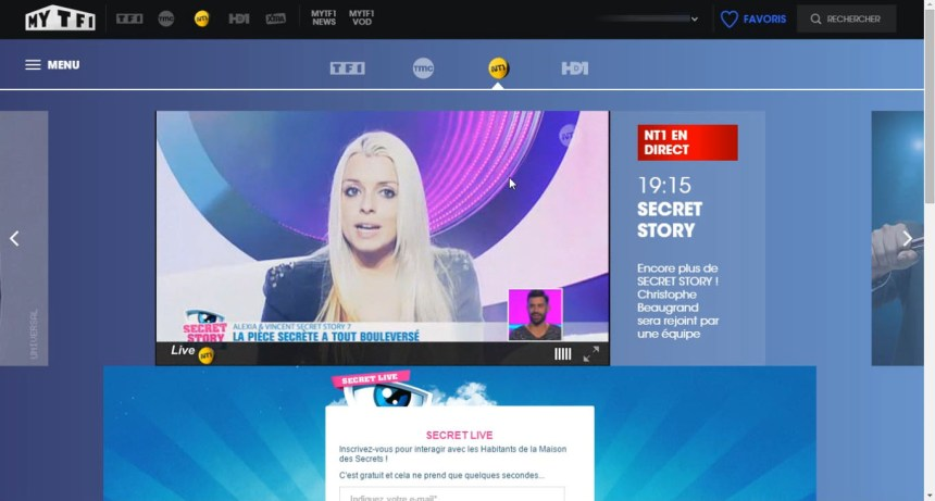 direct NT1 live stream hors France, contourner geo blocking,unblocked