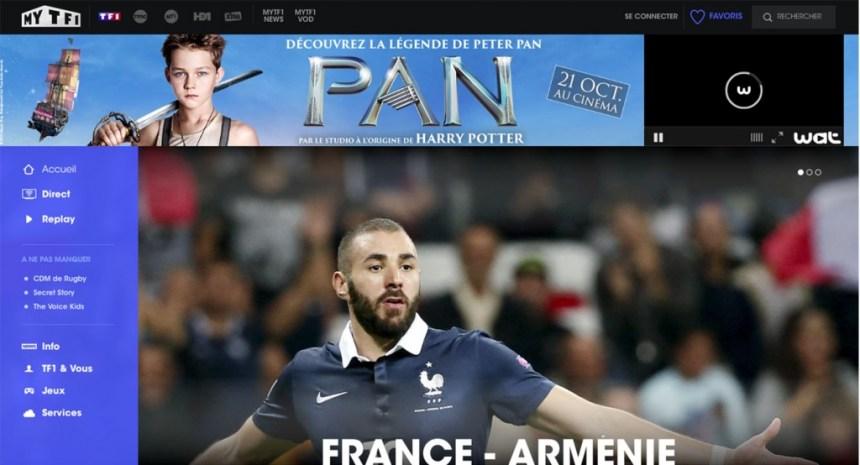 direct TF1 live stream hors de France