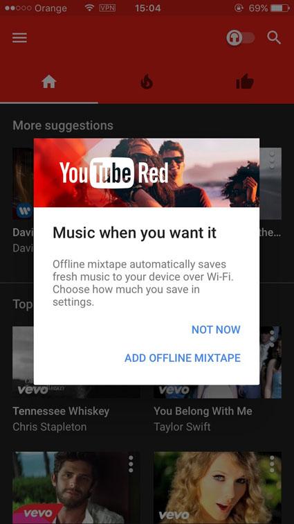 compte premium gratuit de youtube music hors USA