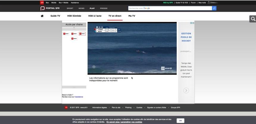 regarder SFR Play hors France - SFR Sport depuis l'étranger