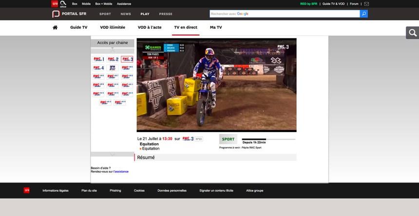 watch RMC Sport outside rance