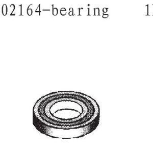 002164 - Rolling bearing 15x10x4 1stk 2