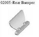 02005 - Rear bumper*1PC 3