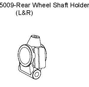 05009 - L & R Rear Wheel Shaft Holder 9