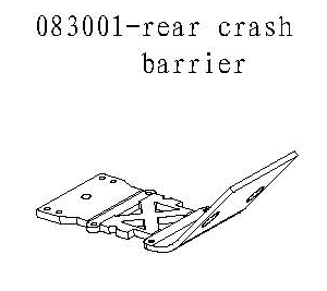 083001 - Rear crash barrier 1stk 1