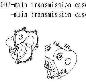 083007 - Main transmission case A & B 1sæt 6