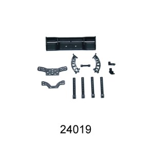 24019 - Wing + Wing Stay+ Body posts+Front/rear Shock Tower for 7