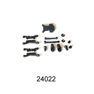 24022 - Suspension Arms+ Shock Assembly+Front Gear Box Mount 9