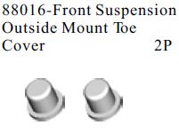 88016 - Front Suspension Outside Mount Toe Cover2P 4