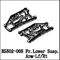 BS502-005 - Fr.Lower Susp.Arm-Lf/Rt 3