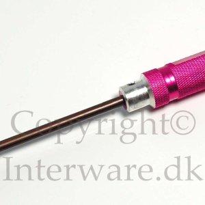 Ligekærvet skruetrækker i HSS stål og alu 3mm 7