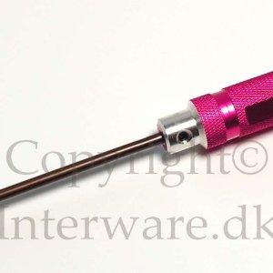 Krydskærvet skruetrækker i HSS stål og alu 3mm 3