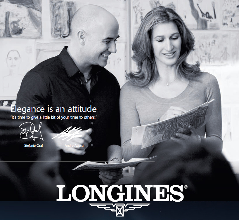 Stefanie Graf and Andre Agassi - Longines