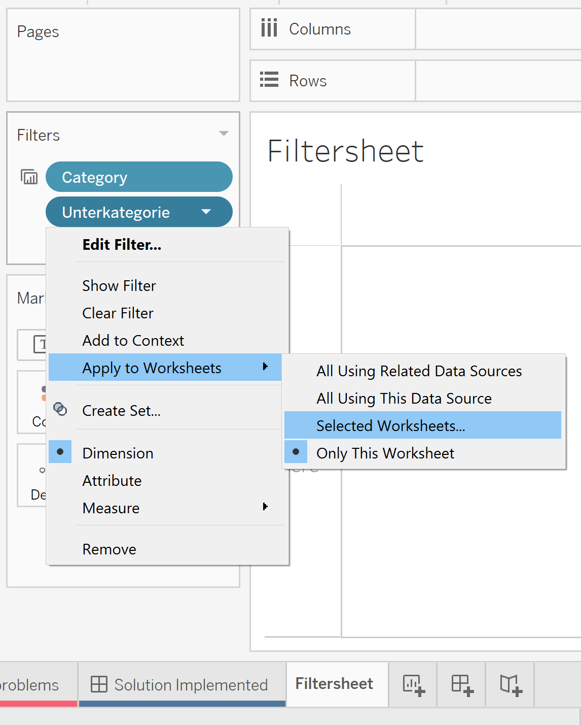How To Create A Relevant Value Filter When Swapping Sheets
