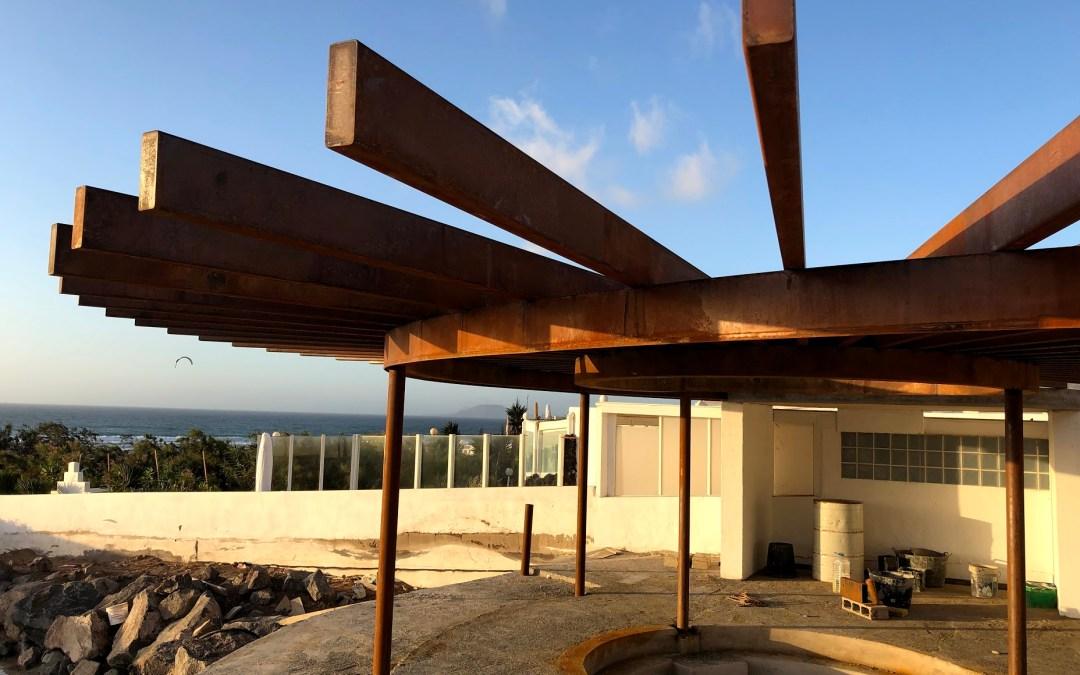 Pérgola de acero corten para Lanzarote