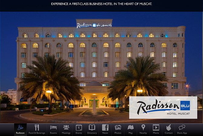 INTEWO made smartphone application for Radisson BLU