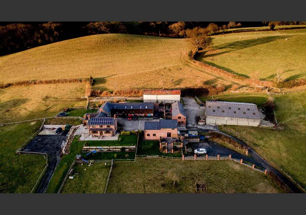 Aerial photography for property overview