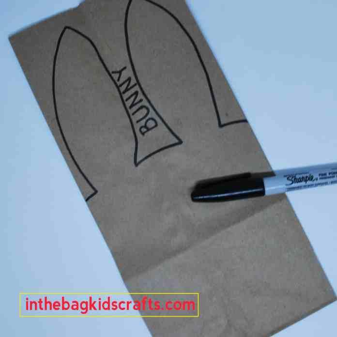 Bunny Gift Bag Step 1