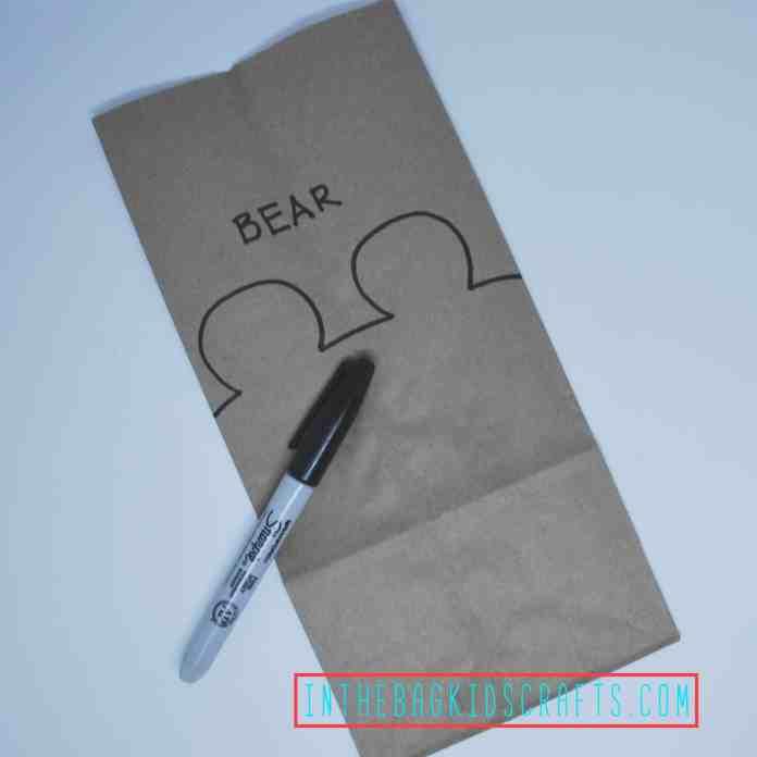 Teddy Bear Gift Bag Step 1