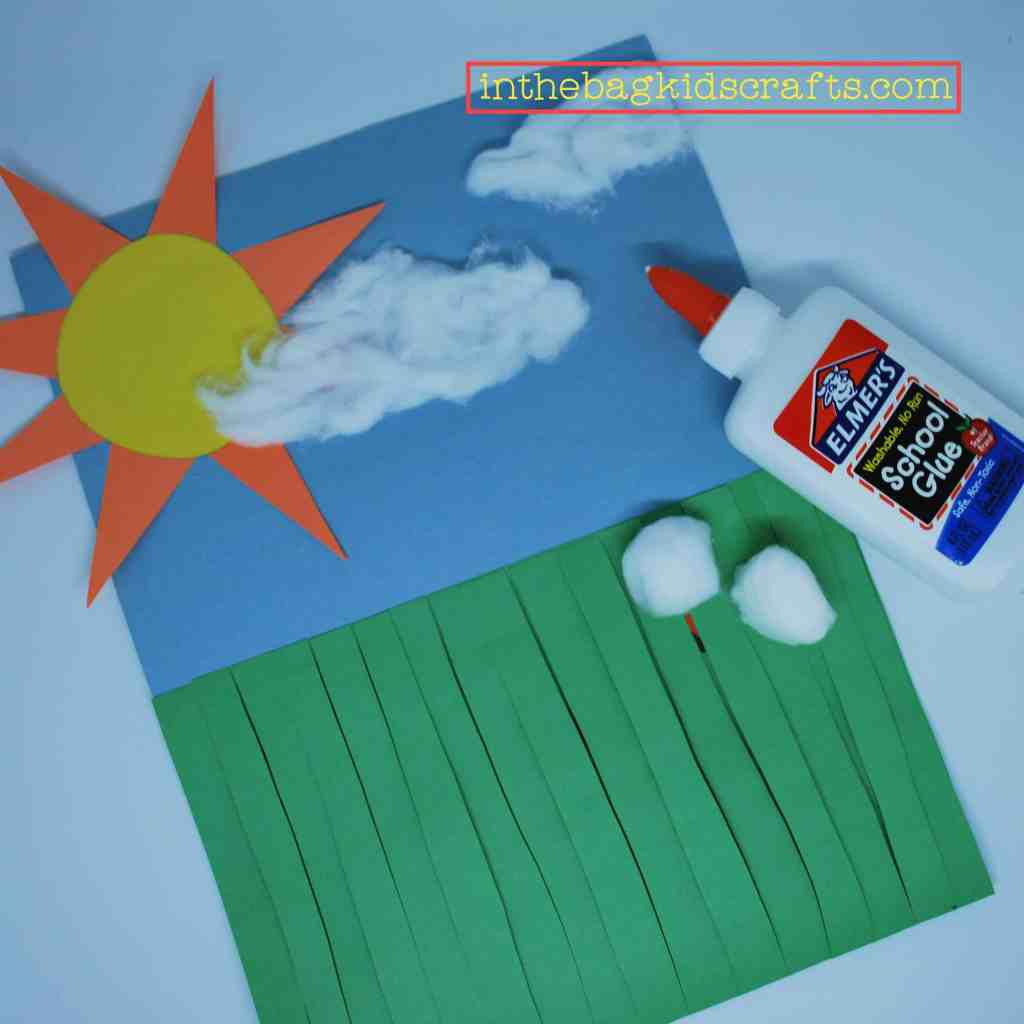 bugs in the grass easy kids craft step 6