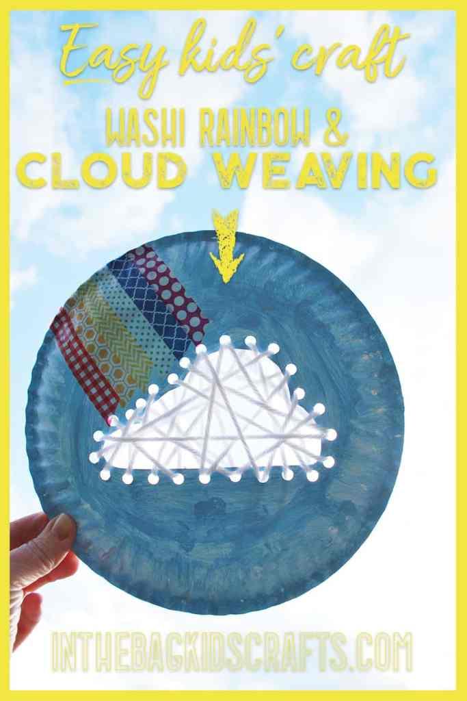 Cloud and Rainbow Kids' Craft