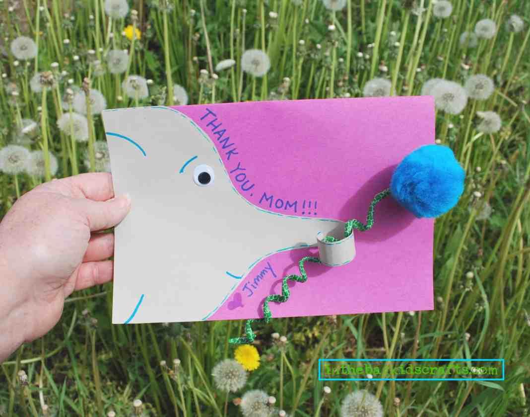 elephant card with flower
