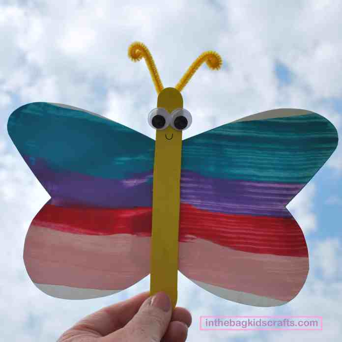 Squeegy Painted Butterfly Easy Kids' Craft