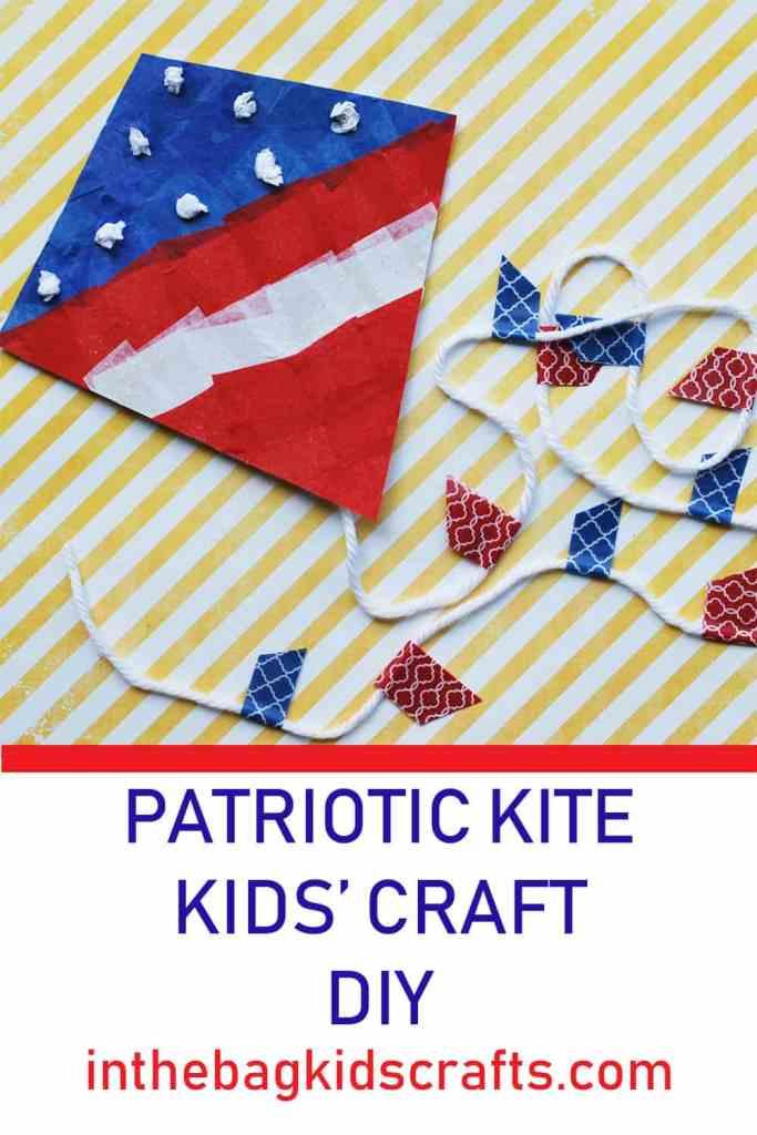 Patriotic kite easy kids' craft