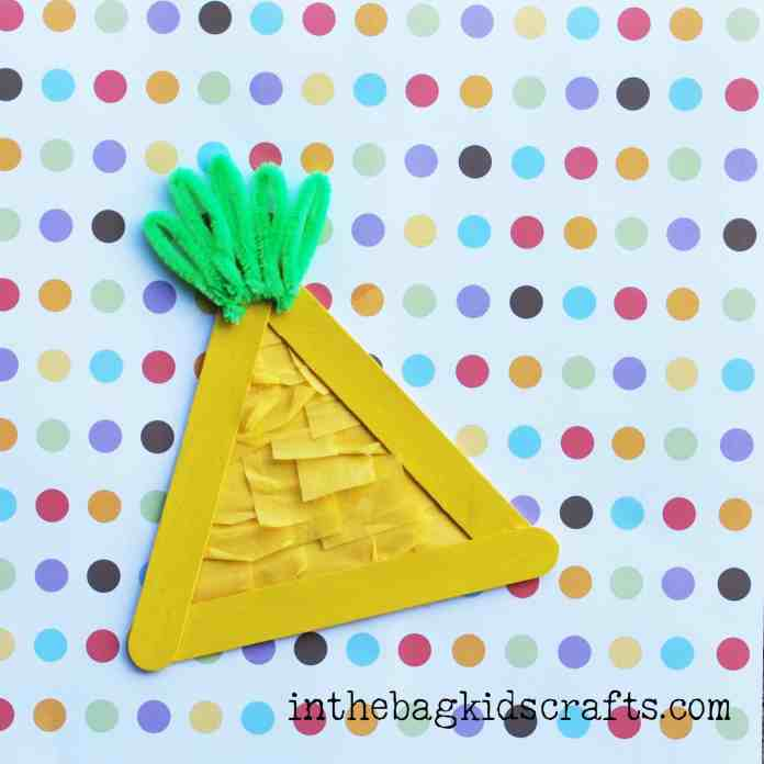Popsicle Stick Pineapple