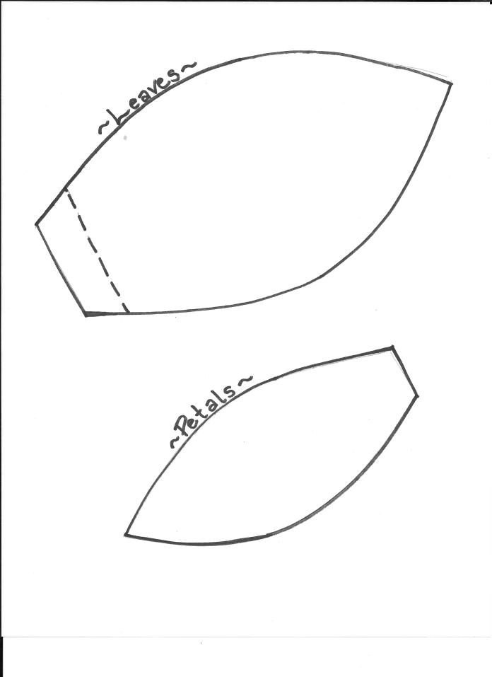 leaf and petal template