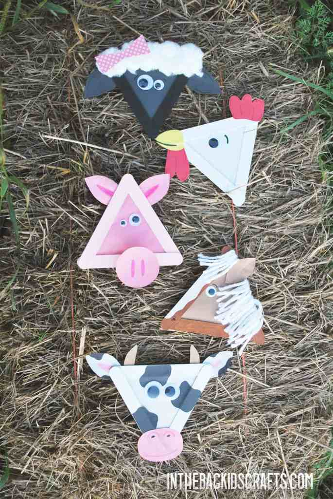 Popsicle Stick Barnyard Animals
