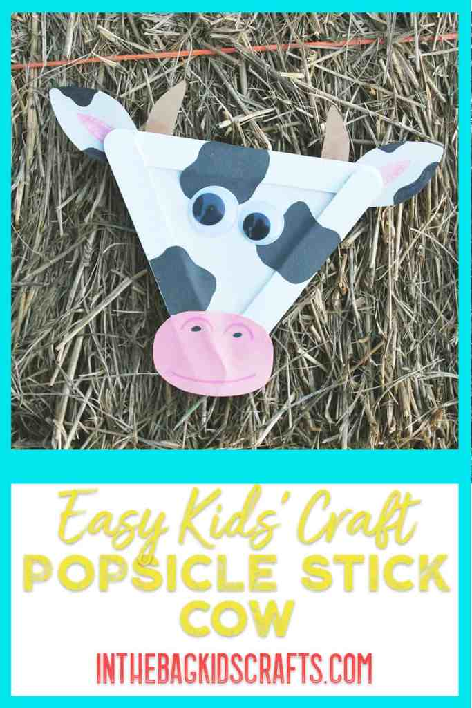 Triangle Cow Kids Craft
