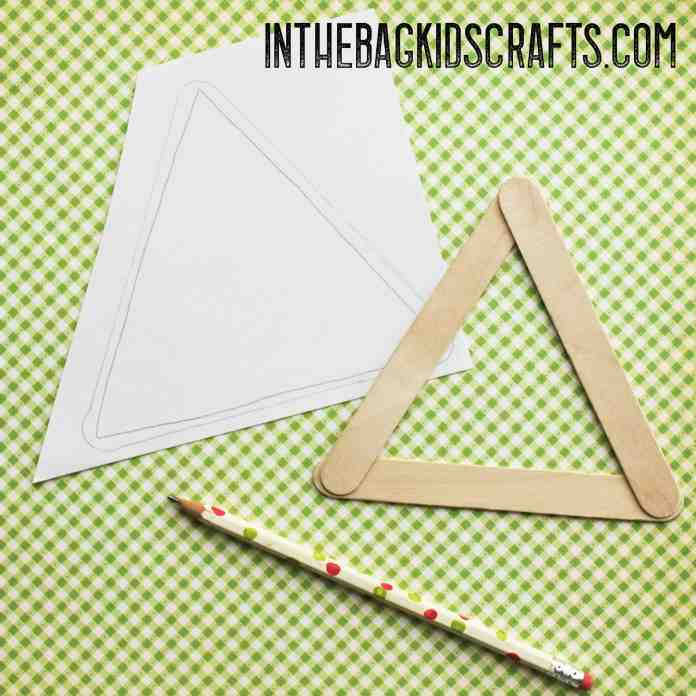 Popsicle Stick Rooster Kids Craft Step 2