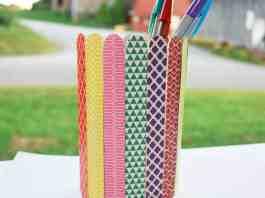popsicle stick kids craft pencil holder