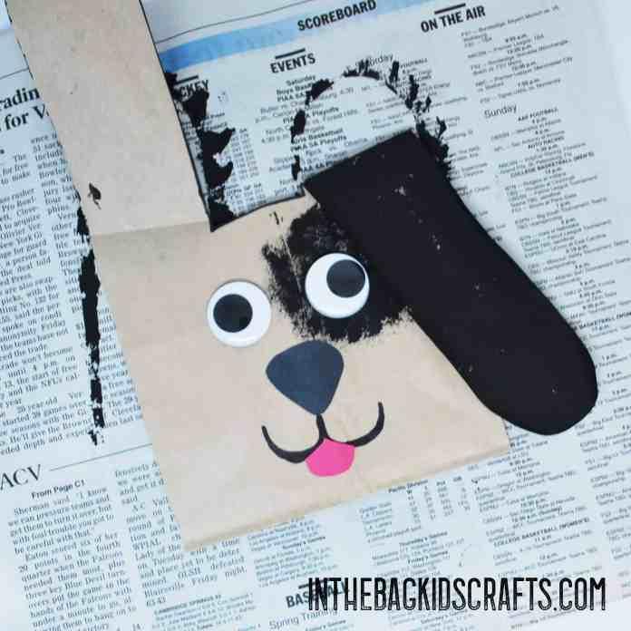 puppy gift bag kids craft