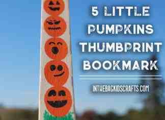 5 little pumpkins fingerprint bookmark