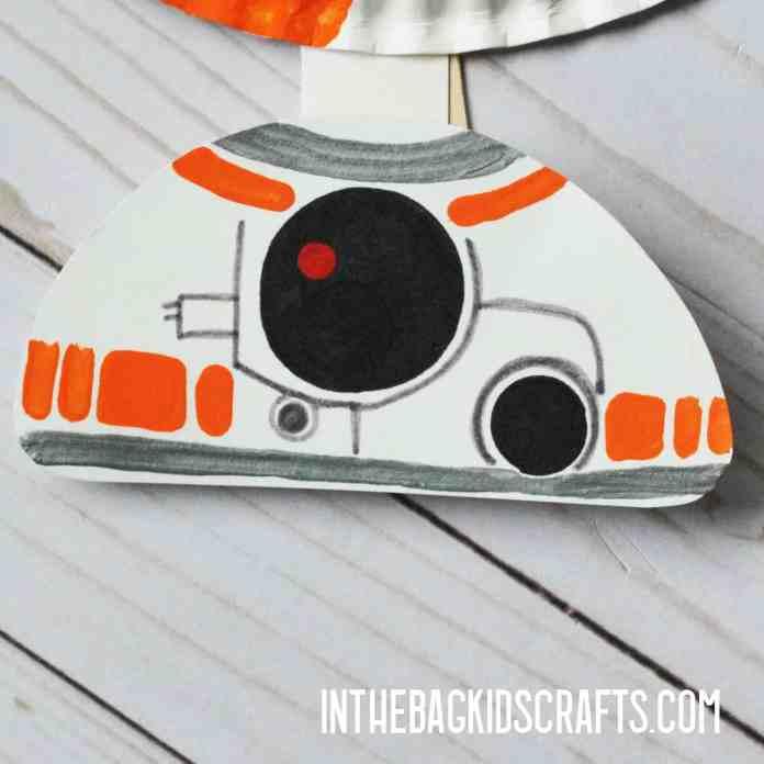 BB8 Kids Craft step 2