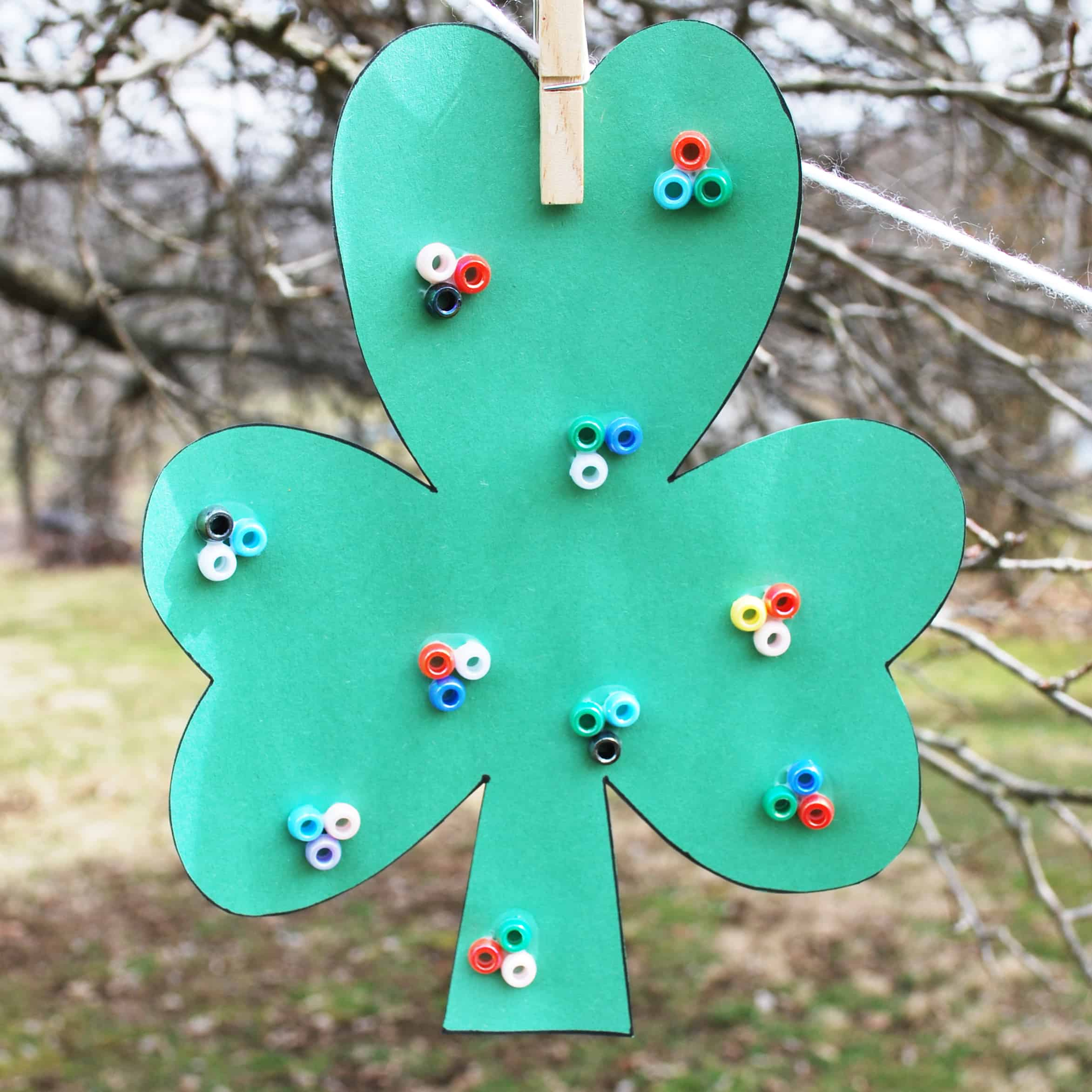 Beaded Lucky Clover