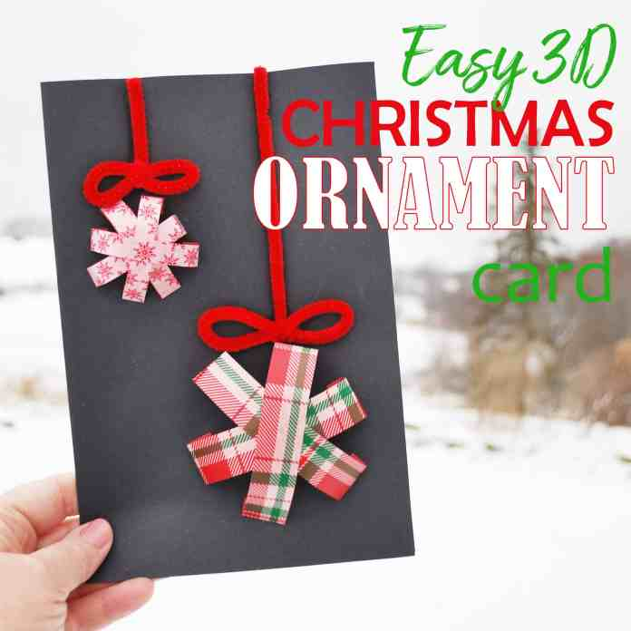 3D Christmas Ornament Card