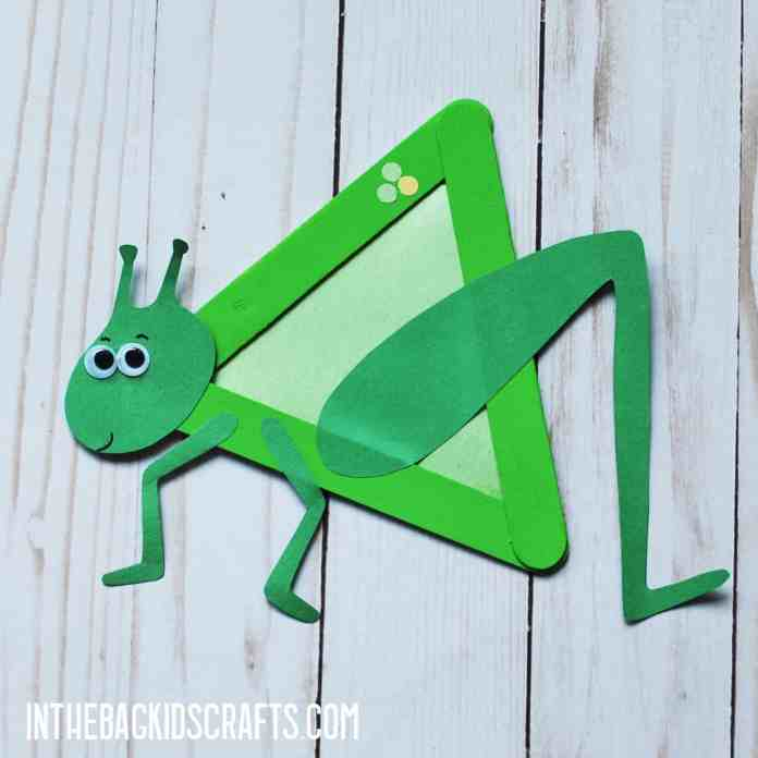 INSECT KIDS CRAFTS GRASSHOPPER