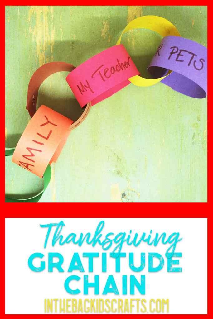 Thanksgiving Kids' Craft Gratitude Chain