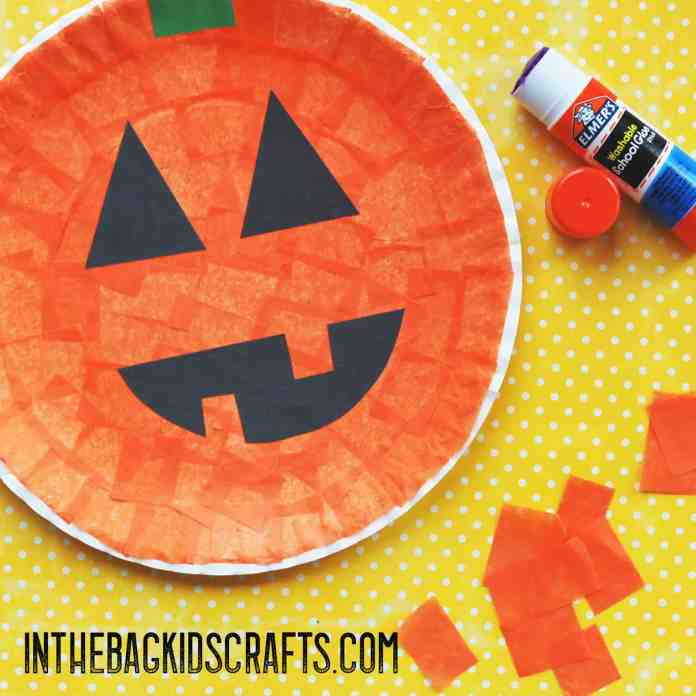 halloween paddle ball jack-o-lantern step 1